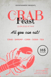 Crab Feast Flyer Template Poster