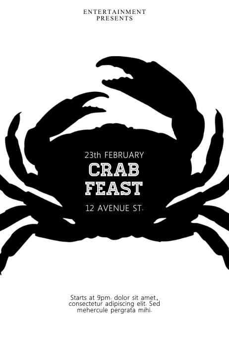 Crab feast Flyer Template