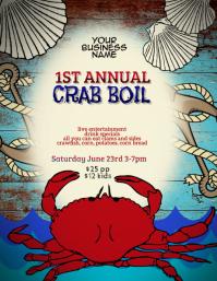 crab lobster boil flyer template