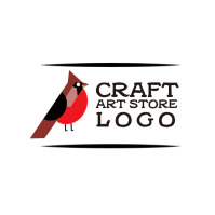 Craft Art Store Logo with Bird template