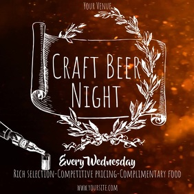 Craft Beer night old style video ad