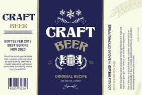 Craft Beer Vintage Label template