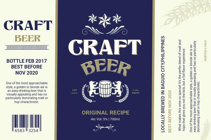 Craft Beer Vintage Label Etiket template