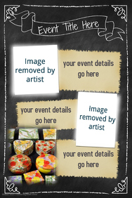 Craft Chalkboard Event Poster Kids Flyer Small Business