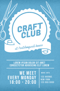 Craft Club Flyer Template โปสเตอร์