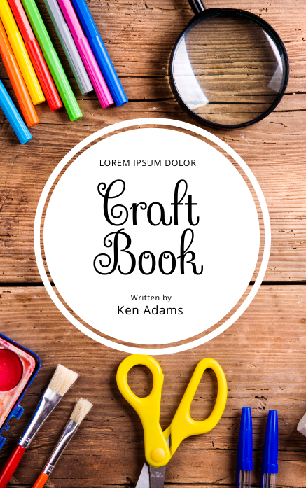 Craft DIY Book Cover Template