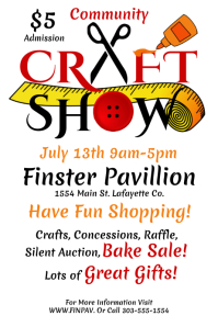Craft Show Poster template