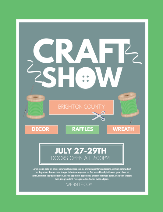 Copy Of Craft Show Postermywall