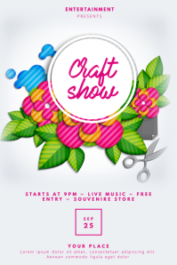 Craft Show Flyer Template