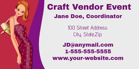 Craft Vendor Coordinator Business Card