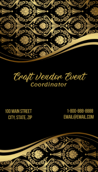 Craft Vendor Cordinator Business Card template