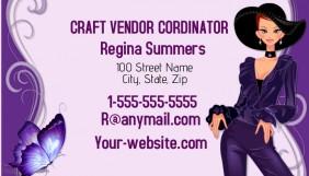 Craft Vendor Cordinator Business Card