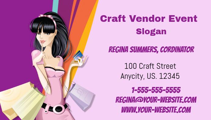 Craft Vendor Event business Card