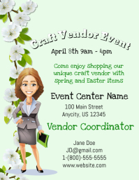 Craft Vendor Event ใบปลิว (US Letter) template