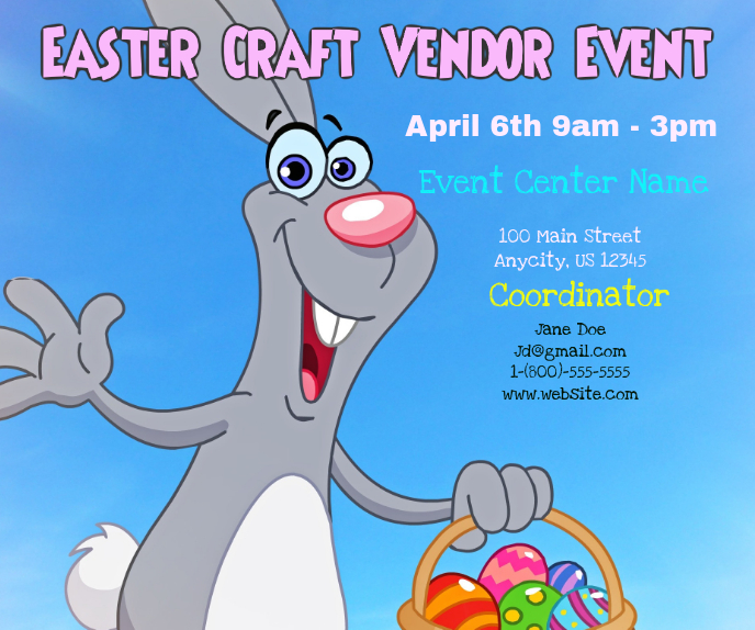 Craft Vendor Event Stort rektangel template
