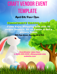 Craft Vendor Event Flyer (US Letter) template