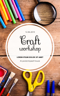Craft workshop Event Flyer Template Couverture Kindle