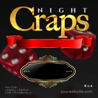 Craps Night Instagram Template