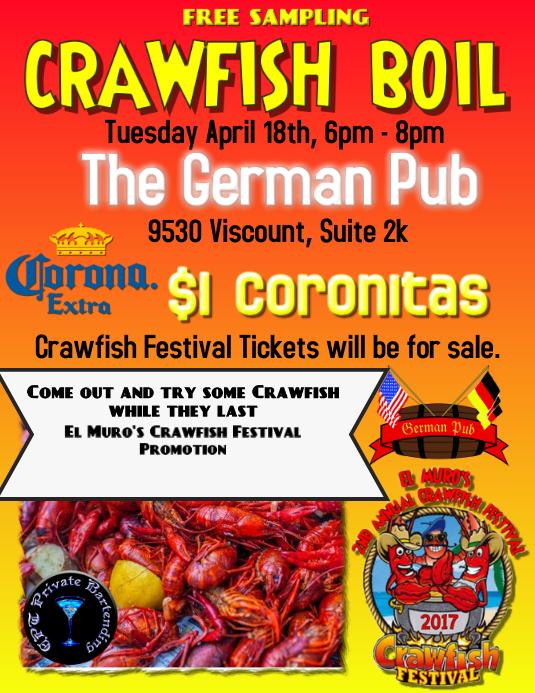 crawfish boil template postermywall