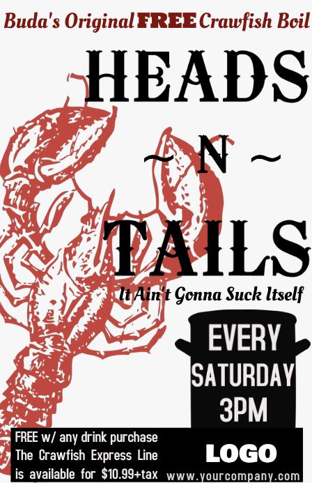 Crawfish Boil Poster Template