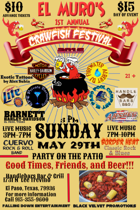 Crawfish Fest Template Postermywall