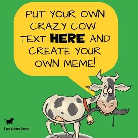 Crazy Cow Vaca Loca Meme Funny Cartoon