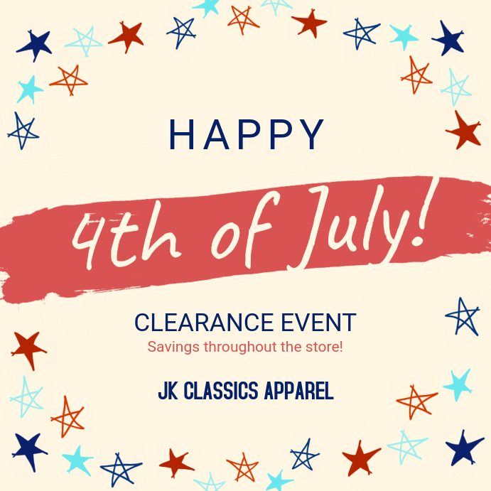 Cream 4th of July Sale Instagram Post Template