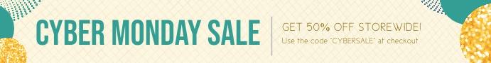 Cream cyber monday etsy banner Etsy-banner template