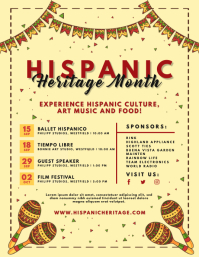 Cream Hispanic Heritage Month Flyer