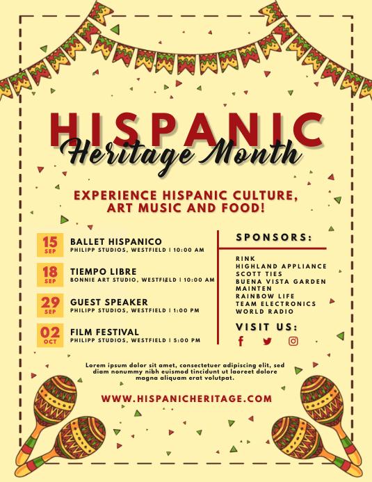 Cream Hispanic Heritage Month Flyer