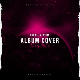 Create A Worn Album Cover Template