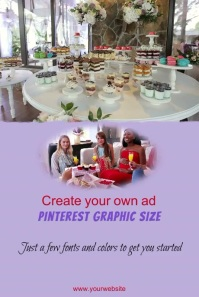Create Your Own Pinterest Graphic Size Post template