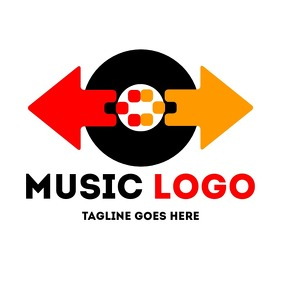 Creative and colorful music logo
