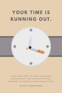 Creative Anti Smoking Poster Template