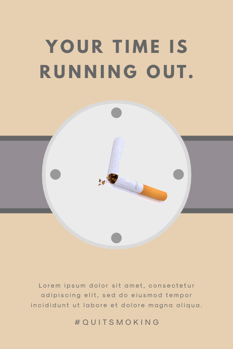creative anti smoking poster template