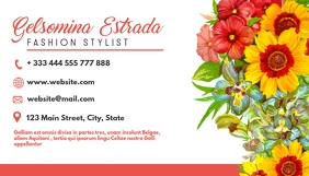 creative artistic flowe business card design