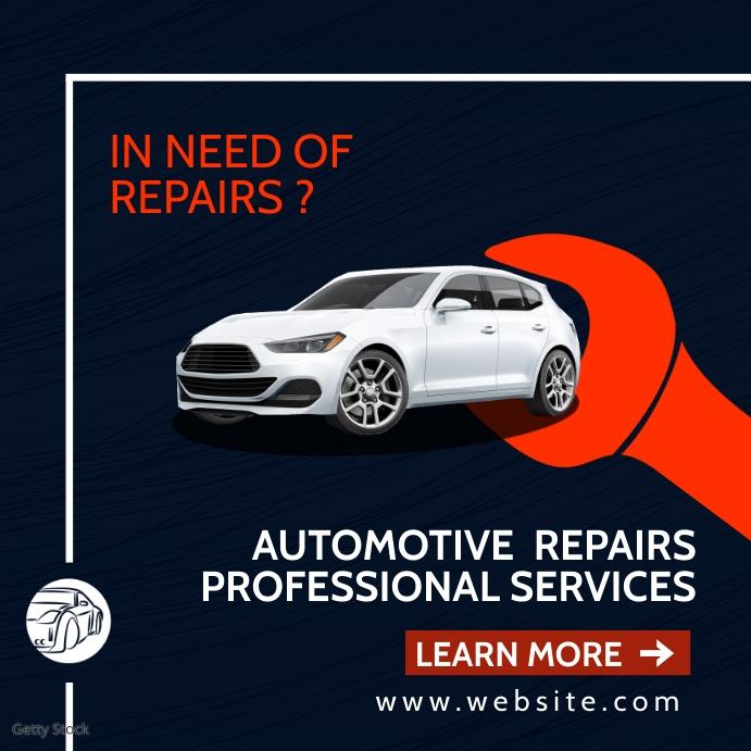 creative automotive repair services advertise Instagram-bericht template