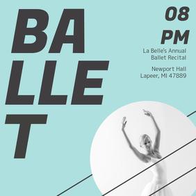 Creative Ballet Ad Design Template