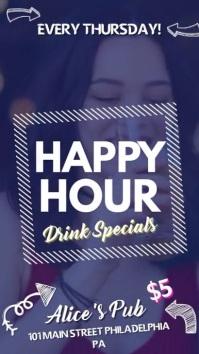 Creative Bar Happy Hour Advertisement Digital Display