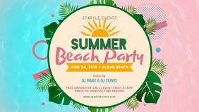Creative Beach Party Banner Template