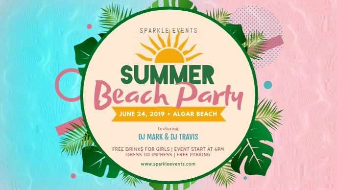 Creative Beach Party Banner Template