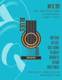 Creative Blues Rock Concert Band Line-up Flyer