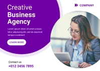 Creative Business Agency Ad Template Postcard