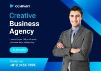 Creative Business Agency Ad Template Kartu Pos