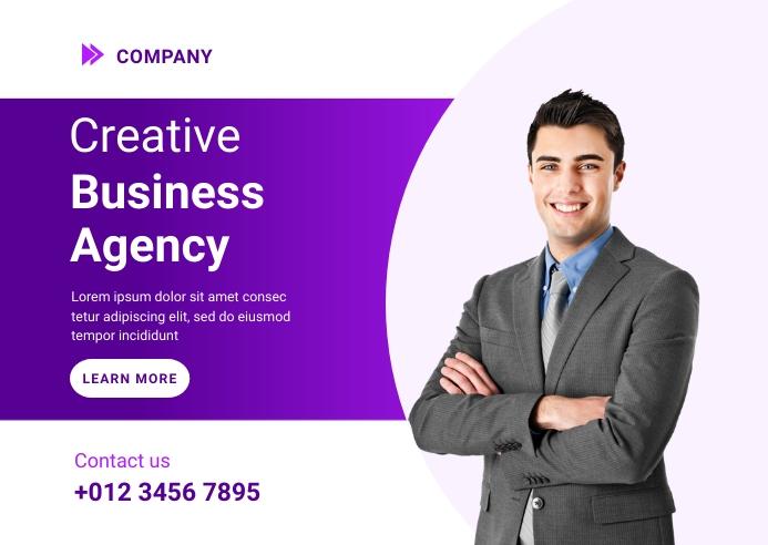 Creative Business Agency Ad Template Carte postale