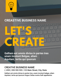 Creative business flyer template design ใบปลิว (US Letter)