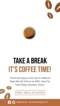 Creative Cafe Advertisement Digital Display