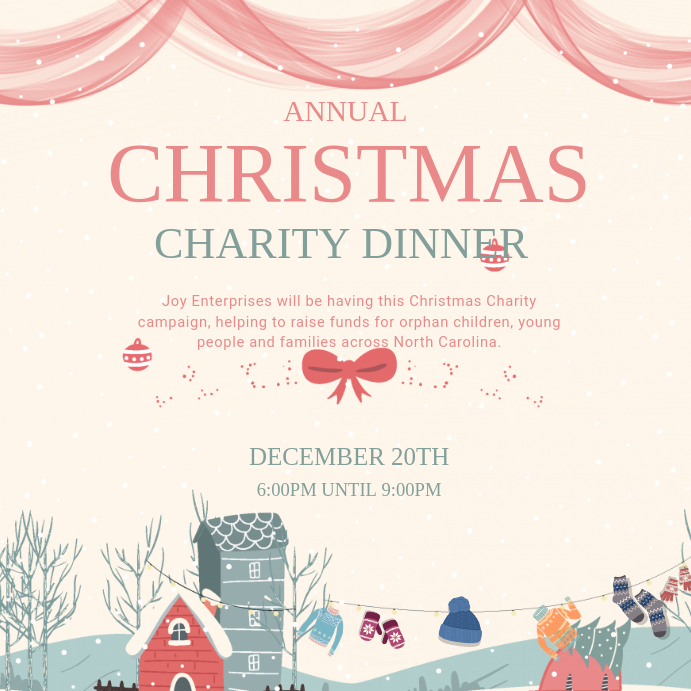 Creative Charity Dinner Invitation Card Template