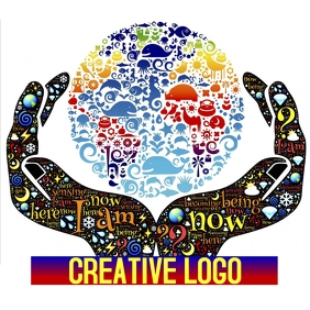 CREATIVE COLOR COLORFUL HANDS PLANET LOGO