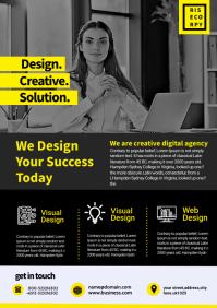 creative corporate flyer A4 template